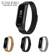 Stainless Steel Strap For Xiaomi Mi Band 3 4 Sport Strap Watch Bracelet For Miband 4 3 Strap Smart Watch Replaceable Band stainless steel wrist strap for xiaomi mi band 3 metal watch band smart bracelet miband 3 belt replaceable watch straps mi 3
