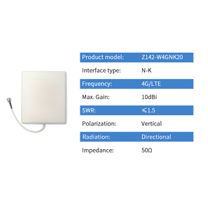 Image 2 - 4G LTE Outdoor Directional Panel Antenna High Gain N Female Waterproof Antena WWAN Base Station Ziisor TX4G PB 2118