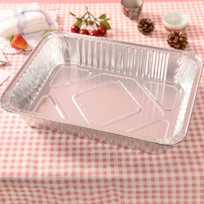 10/20/30pcs set Mess Tin Lunch Box Grease Drip Pans Tray Outdoor For Cooking Disposable BBQ Aluminium Foil Box Without Cover