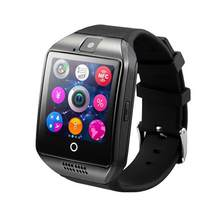 Q18 inteligentny zegarek na rękę smartwatch bluetooth telefon z kamerą TF/gniazdo karty sim GSM Anti-lost Watch(China)