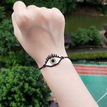 FAIRYWOO Miyuki Jewelry Evil Eye Bracelet Fashion Women Accessories Friendship Bracelets Drawstring Rope Dangle Charms In Israel