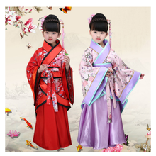 Traditional Chinese Dance Costumes For Girls Ancient Opera Tang Dynasty Han Ming Hanfu Dress Child Clothing Folk Dance Children new arrival chinese traditional dance costumes children kids tang folk dance costumes modern national chiffon hanfu for girls