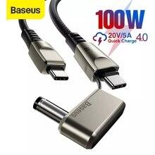 Baseus كابل USB C إلى النوع C, كابل شحن سريع 100 واط لأجهزة اللابتوب Lenovo ASUS كابل شحن USB C لأجهزة Huawei Samsung