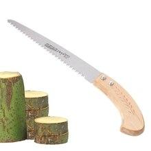 2018 wysokiej jakości nowy 270mm przycinarka 3 krawędzie tnące 65 Mn narzędzie ogrodowe do obróbki drewna z drewnianą rączką #1