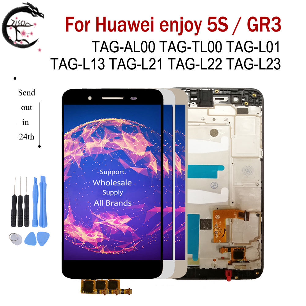 "5.0"" LCD With Frame For Huawei enjoy 5S GR3 TAG L21 TAG L22 L23 L01 L03 L13 LCD Display Screen Touch Sensor Digitizer AssemblyMobile Phone LCD Screens   -"