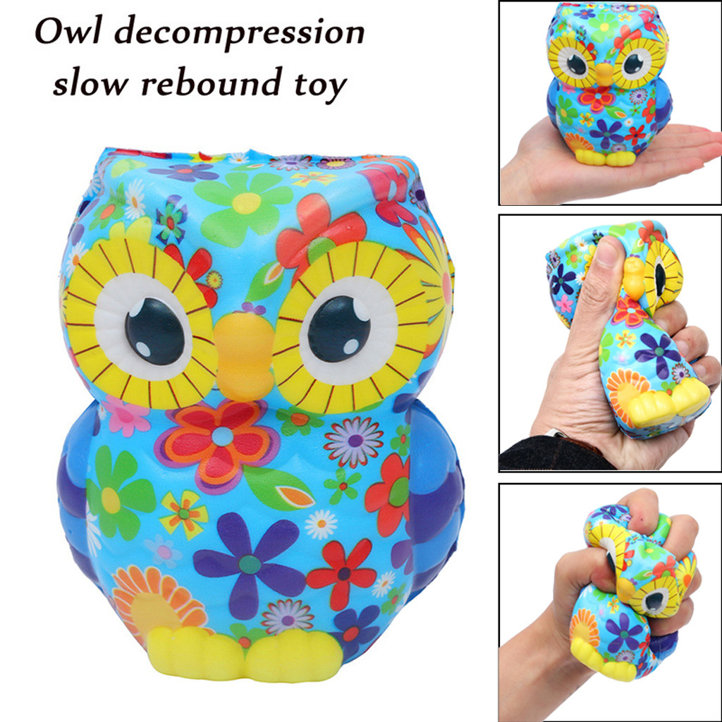 Stress Relief Toys Kawaii Squeeze Toys Squishy Adorable Owl Squeeze Slow Rising Cartoon Doll Cream Scented Stress Relief ToyW806