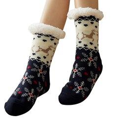 Nieuwe Winter Warmer Vrouwen Dikker Thermische Wol Kasjmier Sneeuw Sokken Naadloze Fluwelen Laarzen Vloer Slapen Sokken