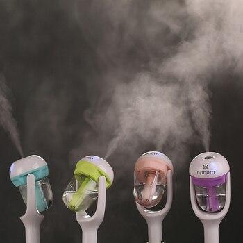 Car Steam Air Humidifier Aroma Diffuser Mini Air Purifier Aromatherapy Essential Oil Diffuser Mist Maker Fogger