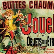 Aux Buttes Chaux Jouets Vintage publicidad seda cartel para pared decorativa pintura 24X36 pulgadas
