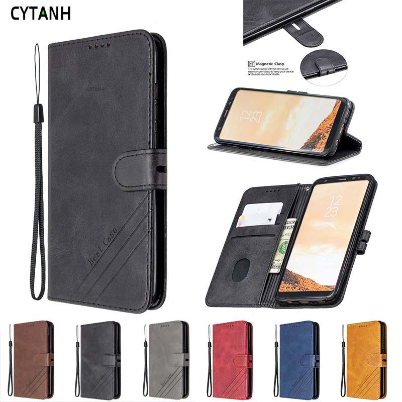 For Samsung Galaxy S10E Case Leather Flip Case For Samsung S10 E S 10E <font><b>SM</b></font>-<font><b>G9700</b></font> Cover Luxury Magnetic Wallet Phone Case Etui image