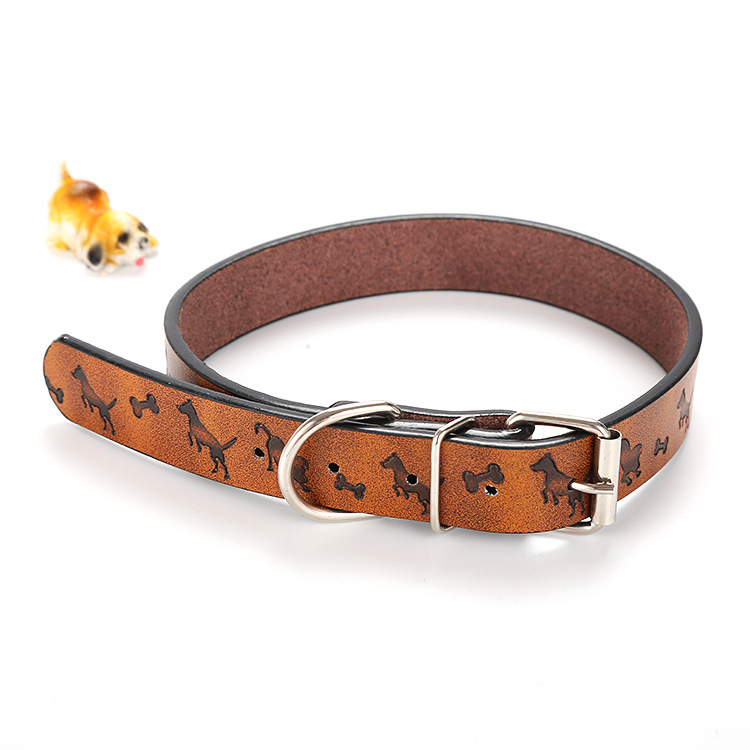 New Style Pet Supplies Dog Printed Neck Ring Traction Set Creative-