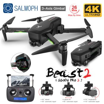 ZLL SG906 Pro 2 Pro2 SG906 GPS Drone z kamerą Wifi 4K trójosiowy antywstrząsowy Gimbal bezszczotkowy profesjonalny Quadcopter Dron tanie i dobre opinie SALMOPH 4 k hd nagrywania wideo CN (pochodzenie) Kamera w zestawie 1 3 0 cali 1200M 4 kanałów App kontroler Pilot zdalnego sterowania