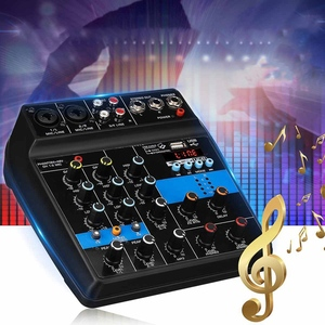 Image 1 - Portable 4 canaux Usb Mini Console de mixage sonore amplificateur de mixage Audio Bluetooth 48V alimentation fantôme pour karaoké Ktv Match partie U