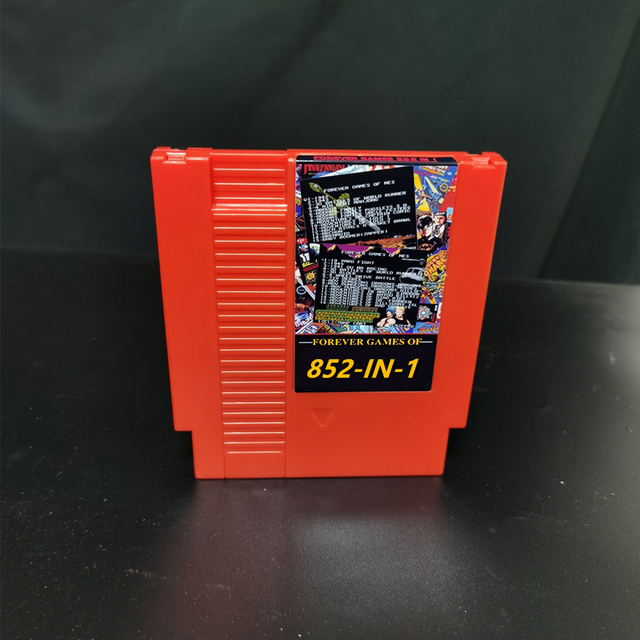 Top Quality 852 in 1 (405+447) Battery Save Game Card 72 pins 8bit game cartridge