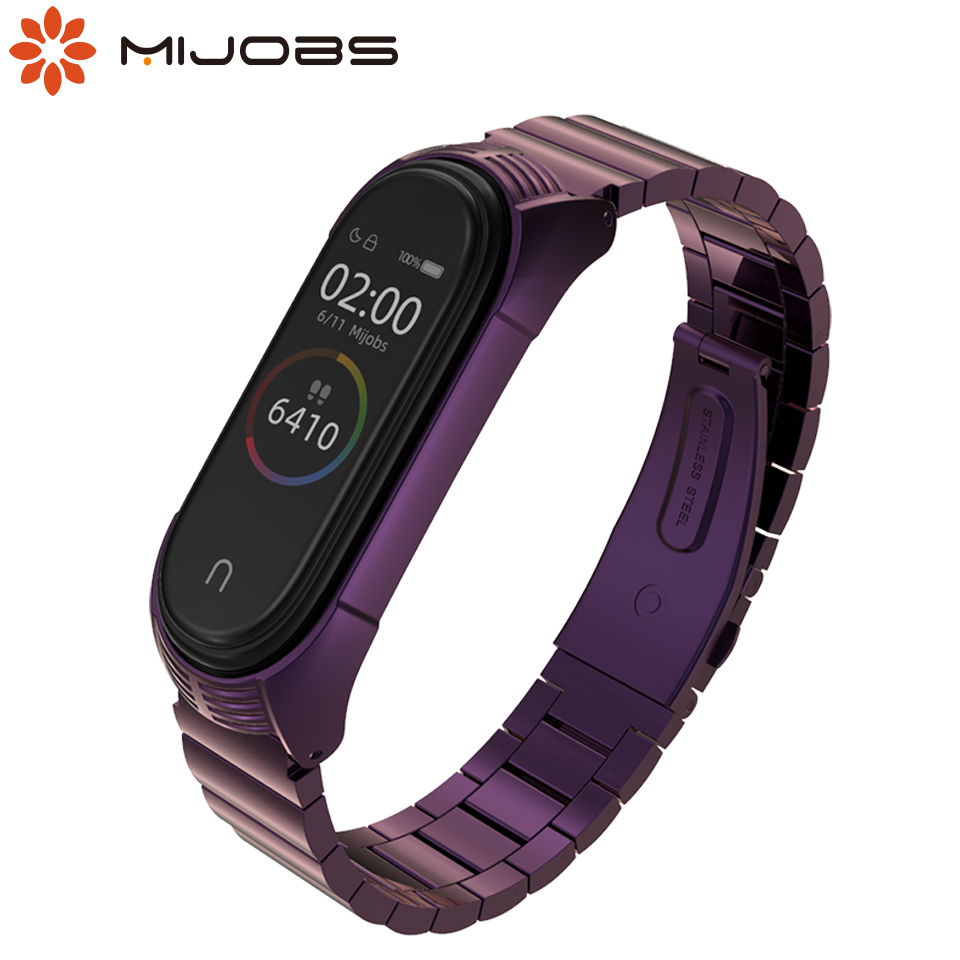 Mi Band 4 Strap Metal Stainless Steel For Xiaomi Mi Band 3 4 Wrist Bracelet Miband 3 Wristbands New Style Strap Mijobs Design