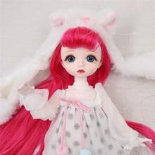 Dbs 1/6 bjd sonho boneca de fadas mecânica corpo comum com maquiagem cabelo olhos roupas sapatos meninas sd