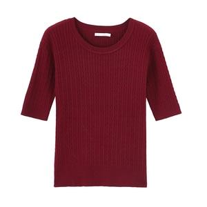 Image 5 - Inman 2020 primavera nova chegada literária frança gola redonda tricô wear feminino cor sólida pulôver camisola