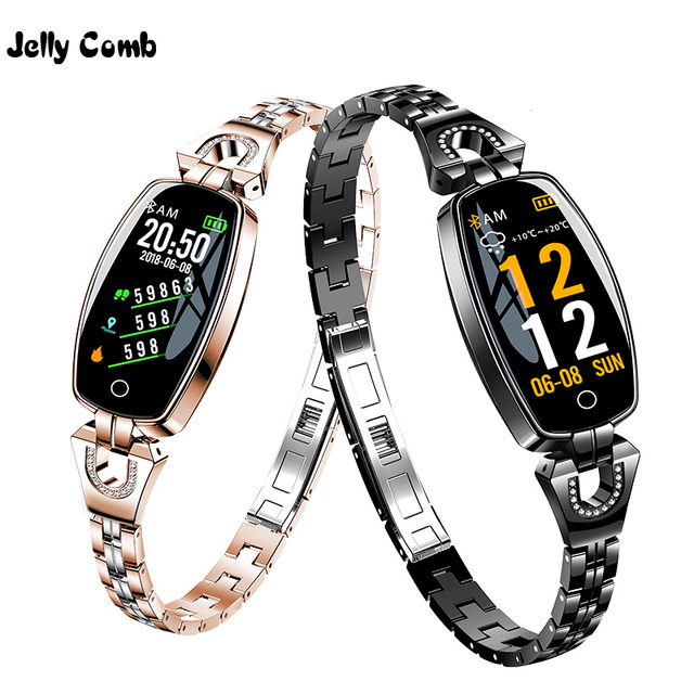 Jelly Comb Fashion Women Smart Watch 0.96 inch Heart Rate Monitor Smart Bracelet Sleep Monitor Smartwatch for Girls Gift