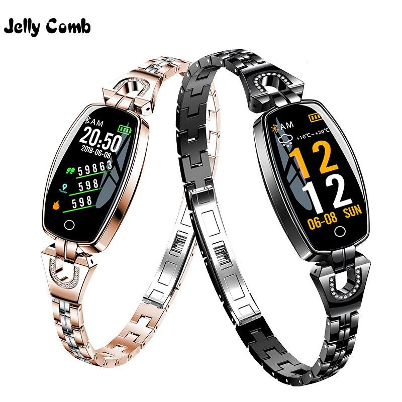 Jelly Comb Fashion Women Smart Watch 0.96 Inch Heart Rate Monitor Smart Bracelet Sleep Monitor Smartwatch For Girls Gift