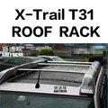 SHITURUI 2 шт. Крыши Баров для NISSAN X-Trail T31 T32 легированные боковые полосы поперечные рельсы багажник на крышу багаж