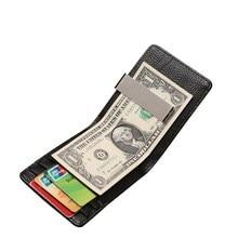 Mini Short Men Wallets Multifunction Ultra-Thin Card Holder Purse Leat