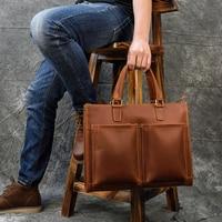 MAHEU Business Handtasche Aus Echtem Leder Laptop Tasche Big Kapazität Kuh Leder Männlich Umhängetasche männer Arbeits Tasche