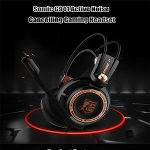Image 2 - Somic g941 gamer fones de ouvido usb 7.1 surround virtual som gaming headset fones com microfone estéreo vibração graves para pc