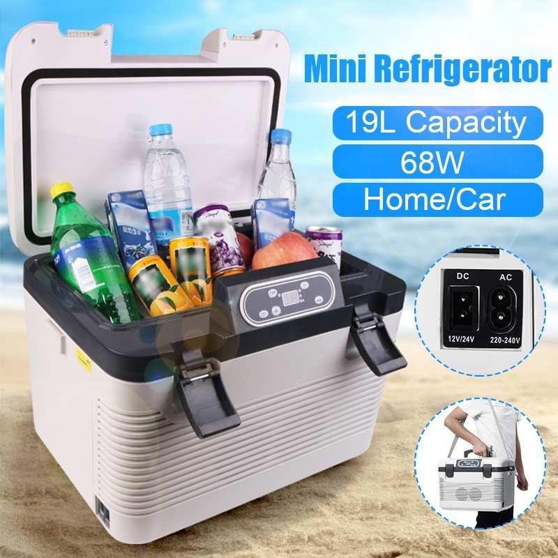 Car Refrigerator Fridge-Compressor-Eu/Au-Plug Freeze Picnic DC12-24V/AC220V 19L Heating