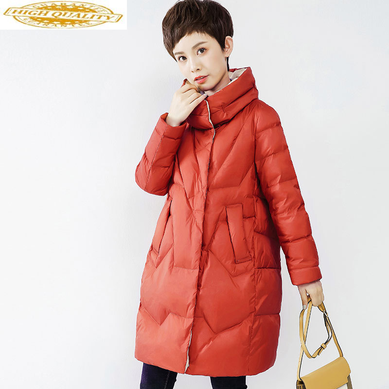Winter Duck Down Jacket Women Long Puffer Down Coat Korean Women's Down Jackets Plumifero Mujer 2020 WF1S9170S KJ3675