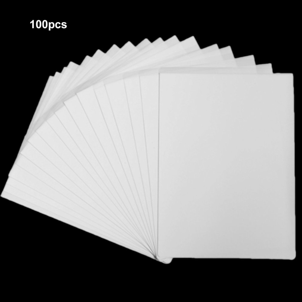 100Pcs Printer A4 Transfer Paper Dye Sublimation Heat Transfer Paper For Modal T-Shirts Coated Cups Mobile Phone Cases