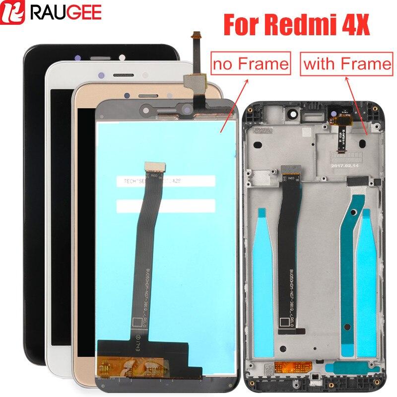 LCD screen für Xiaomi Redmi 4X Lcd Display mit Rahmen Getestet Touchscreen Digitizer montage für Xiaomi Redmi 4X Pro lcd Bildschirm
