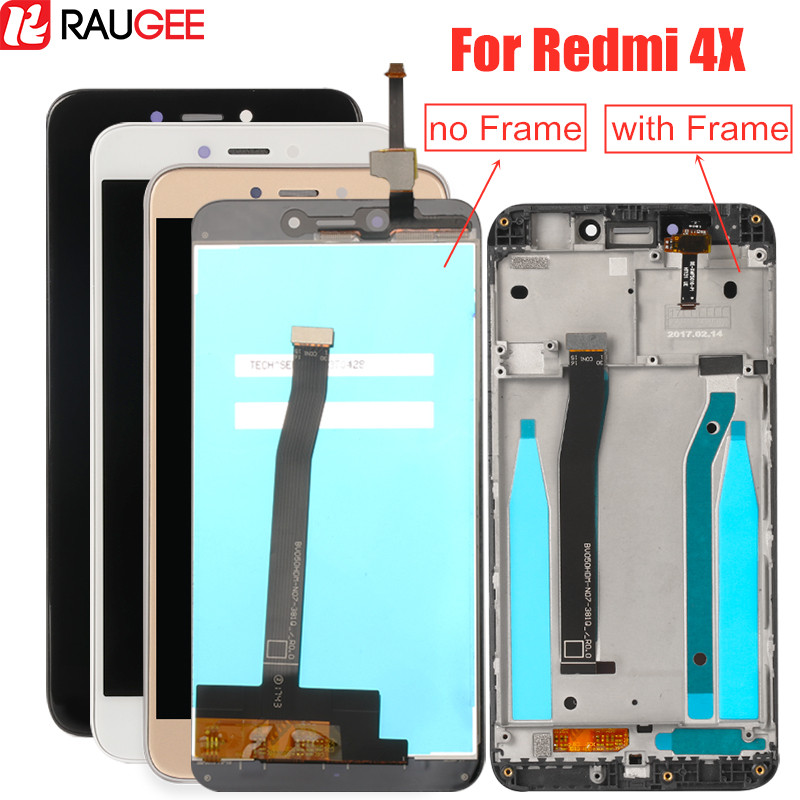 LCD screen for <font><b>Xiaomi</b></font> <font><b>Redmi</b></font> <font><b>4X</b></font> Lcd Display with Frame Tested Touch Screen Digitizer assembly for <font><b>Xiaomi</b></font> <font><b>Redmi</b></font> <font><b>4X</b></font> Pro lcd Screen image