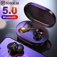 TWS bezprzewodowe słuchawki na Bluetooth Bluetooth 5.0 słuchawki słuchawki wodoodporne Stereo słuchawki douszne z mikrofonem PK Mi słuchawki Airdot TWS