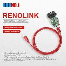 Renolink forRenault ECU программист V1.52 CD Программное обеспечение ключ кодирования UCH соответствие приборной панели кодирование ECU сброс функции