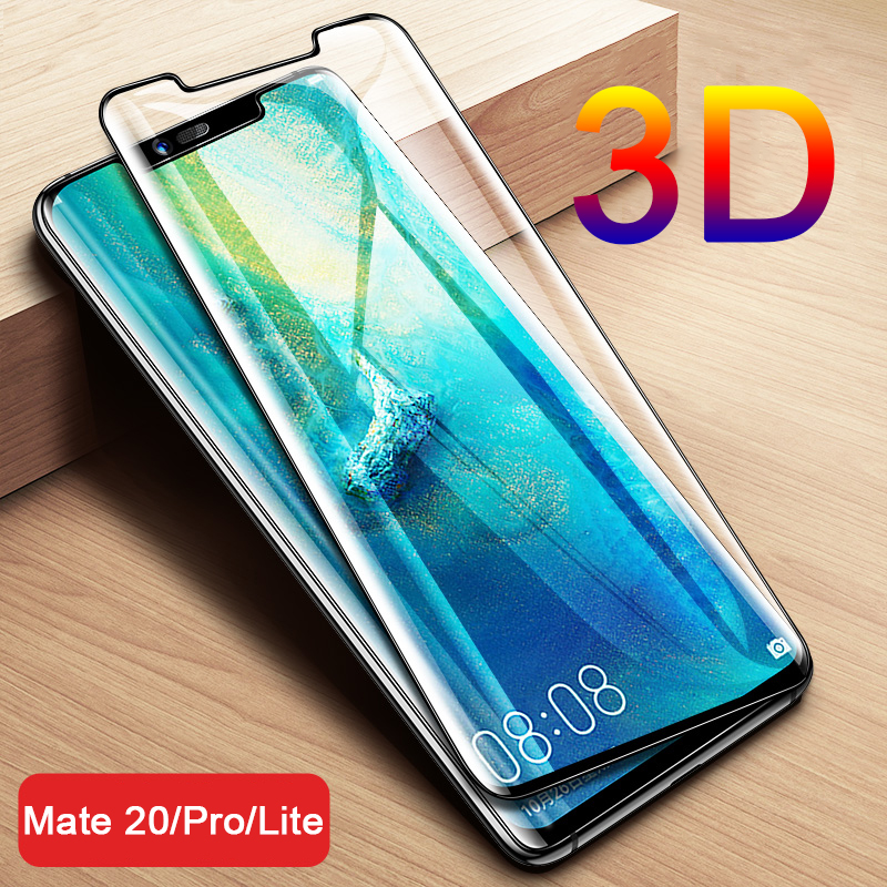 Vidrio Templado curvado 3D para Huawei Mate 20 Pro Protector de pantalla en Mate 20 X Mate20 Lite 20x Mate20pro Mate20x película protectora 2 uds vidrio templado para Lenovo K10 Note / K10 Plus Protector de pantalla 2.5D 9H vidrio templado para Lenovo A6 película protectora Note
