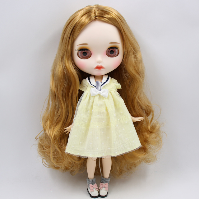 Georgia – Premium Custom Blythe Doll with Full Outfit Pouty Face