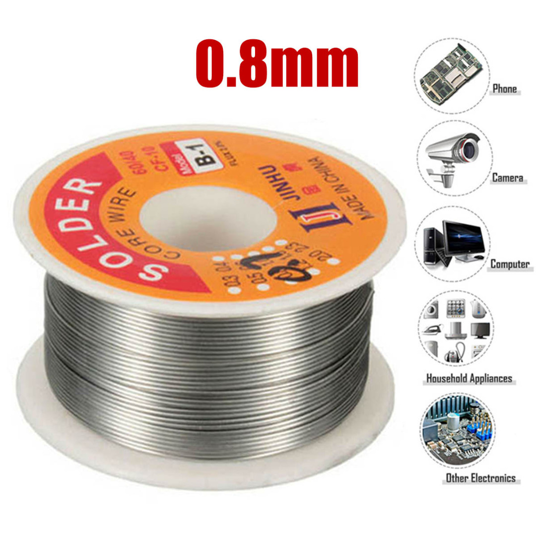0.8mm <font><b>Solder</b></font> Wire 100g <font><b>60/40</b></font> Tin Lead Rosin Core <font><b>Solder</b></font> Wire Soldering Sn60 Pb40 Flux for Circuit Board Electronics Devices image