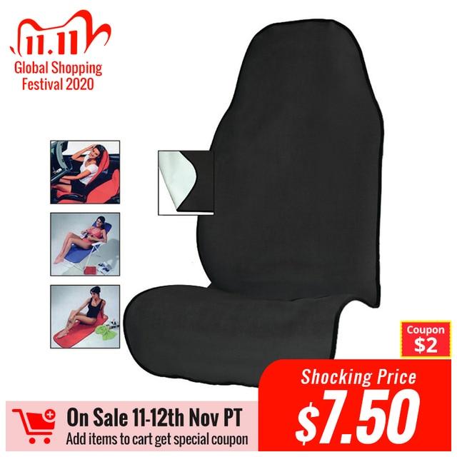 AUTOYOUTH منشفة غطاء مقعد السيارة للرياضيين اللياقة البدنية رياضة الجري شاطئ السباحة في الهواء الطلق آلة الرياضات المائية قابل للغسل أسود