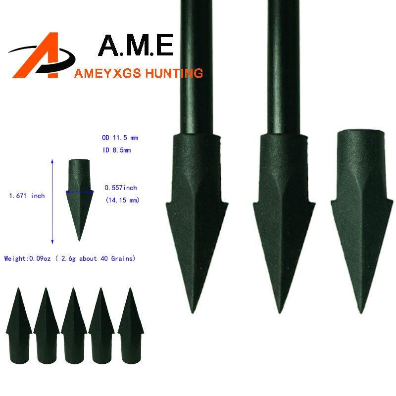 12pcs 65grain Field Points Arrowheads Broadheads for 8.0mm Wood Bamboo Arrows
