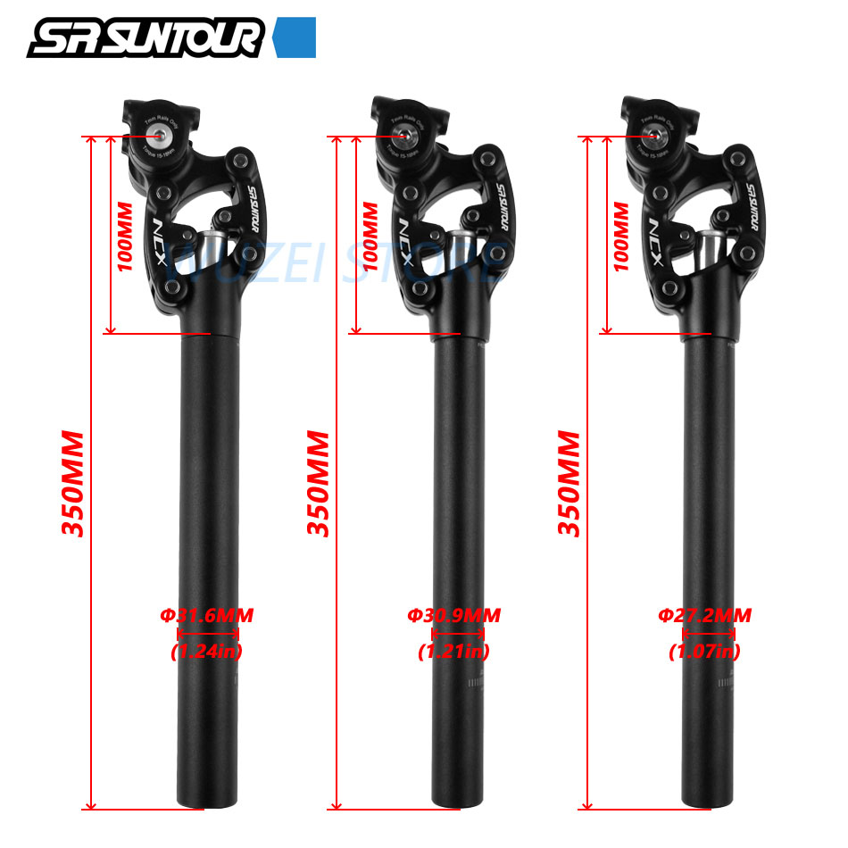 Sr suntour ncx bicycle suspension travel saddle 350mm / 400mm * 27.2 / 28.6 / 30.0 / 30.1 / 30.4 / 30.8 / 31.6 / 33.9mm bicycle
