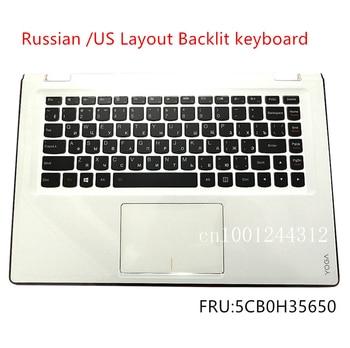 Russian New Original For Lenovo Yoga 3-14 3-1470 YOGA 700-14ISK Palmrest Upper Case Keyboard Bezel Cover Touchpad 5CB0H35650