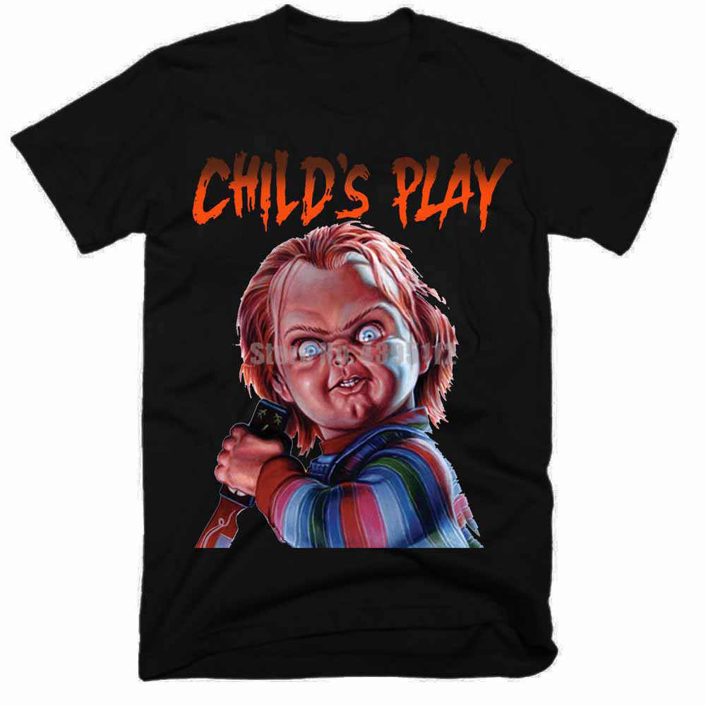 Chucky Movie Homme Funny Tee Shirt 힙합 의류 Tshirt 3D 프린트 T 셔츠 브랜드 T 셔츠 Mens Top
