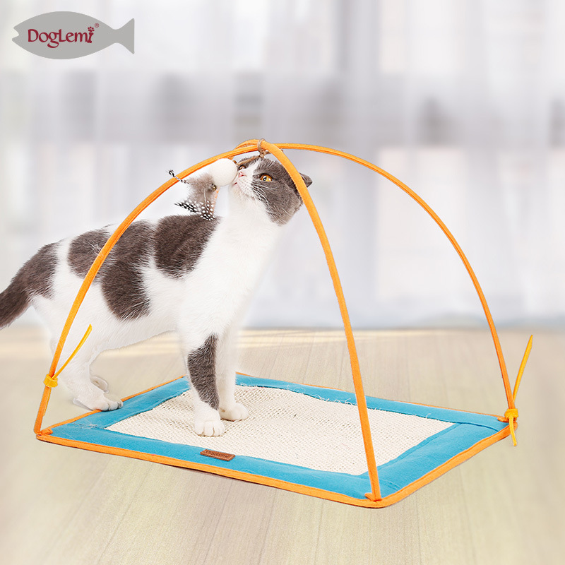Cat Scratch Blanket Sisal Pajama Claws Grinding Pad Cat Tent Play A Natural Cat Toy Blanket