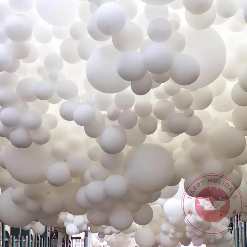 Матовый чистый белый шарики для свадебного украшения на день рождения вечерние Baby Shower круглый баллон гелия 5 дюймов 10 дюймов 12 дюймов 18 дюйм...