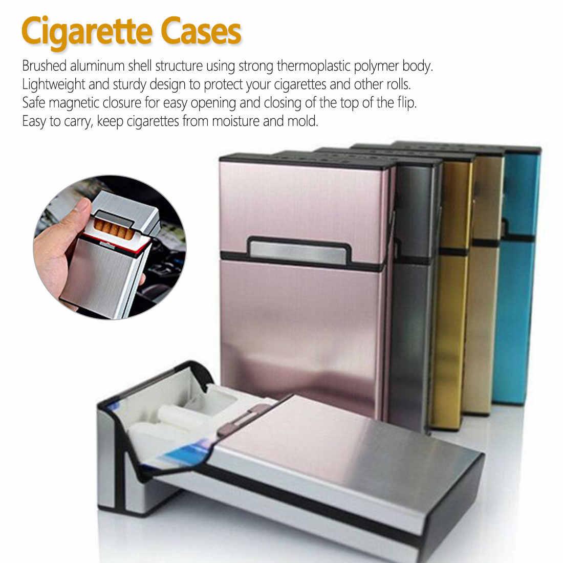 2019 1Pcs Nieuwe Ultra Dunne Mode Pijp Creatieve Persoonlijkheid Cigaret Case Slim Metalen Doos Aluminium Geschenkdoos Mini Sigaret houder