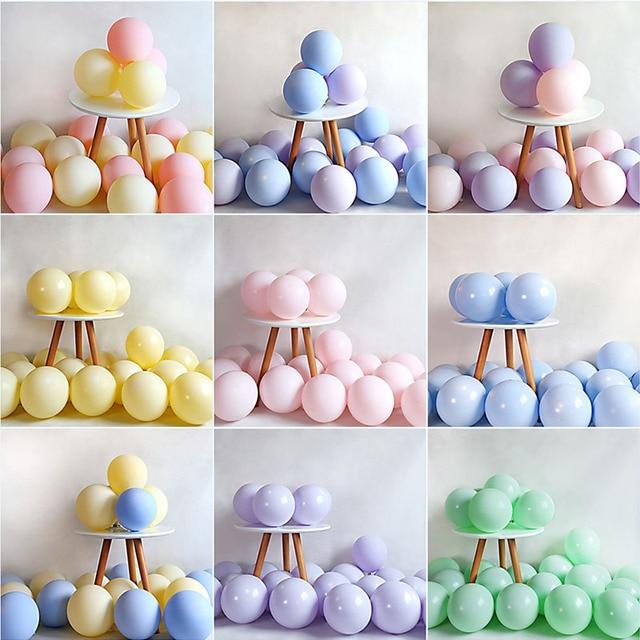 20pcs Macaron Balloon 1st Happy Birthday Decorations First Birthday Boy Girl Party Kids Adult Baby One Year Birthday Decor 21 40
