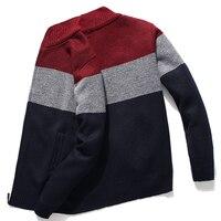 Maglione Cardigan KKSKY uomo maglione da uomo grigio a righe Cardigan lavorato a maglia abbigliamento uomo caldo oversize 3XL stile coreano Homme 2020