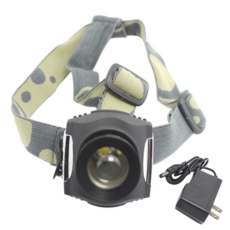 Waterproof 3 Modes Led Headlamp Rechargeable Zoomable XML T6 Head Torch Light Running Head Lamp Built-in Battery+4.2v Charger
