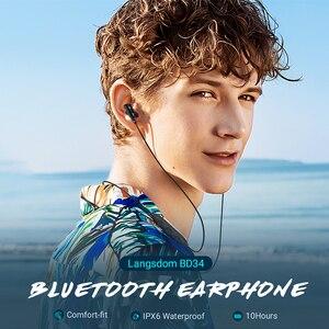 Image 2 - Langsdom BD34 Auricolari Bluetooth Auricolare Senza Fili Stereo Bass Cuffie Bluetooth con Microfono per xiaomi cuffie fone de ouvido