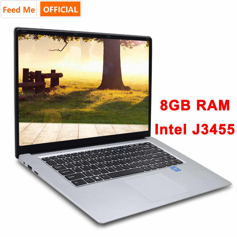 15.6 Inch 8 Gb Ram 256 Gb/512 Gb Ssd Notebook Intel J3455 Quad Core Laptops Met Fhd Display ultrabook Student Computer